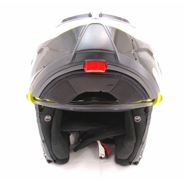 LS2 Strobe Zone Modular Full Face Motorcycle Helmet Glossy Hi-Viz Yellow